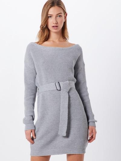 Missguided Kleid 'Off Shoulder Belted Mini Dress' in grau, Modelansicht