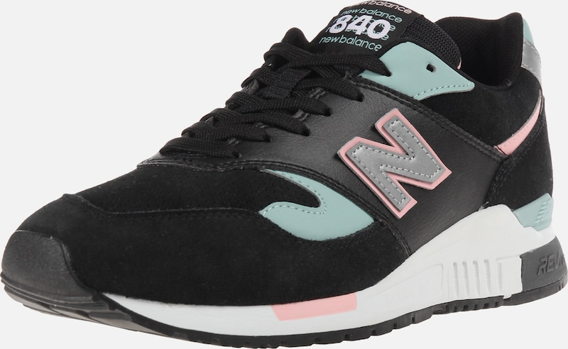 new balance Sneaker 'ML840' in mint / rosa / schwarz: Frontalansicht