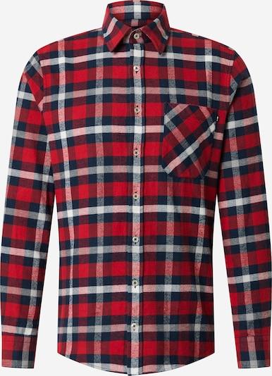 JOOP! Jeans Overhemd 'Hanson' in de kleur Navy / Rood / Wit, Productweergave