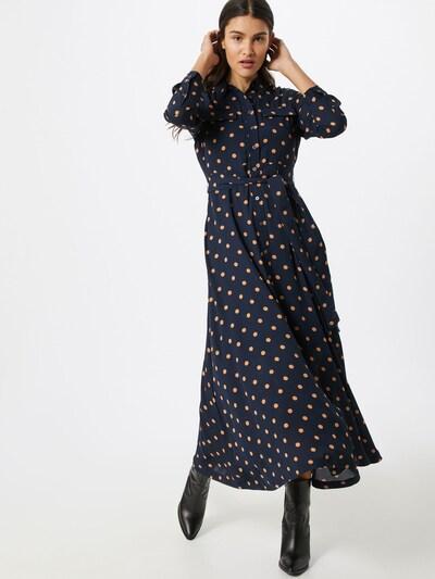 Banana Republic Kleid 'J LS MAXI SHIRT DRESS PRINT' in navy, Modelansicht