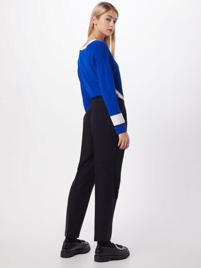 heine Pantalon à plis en noir: Vue de dos