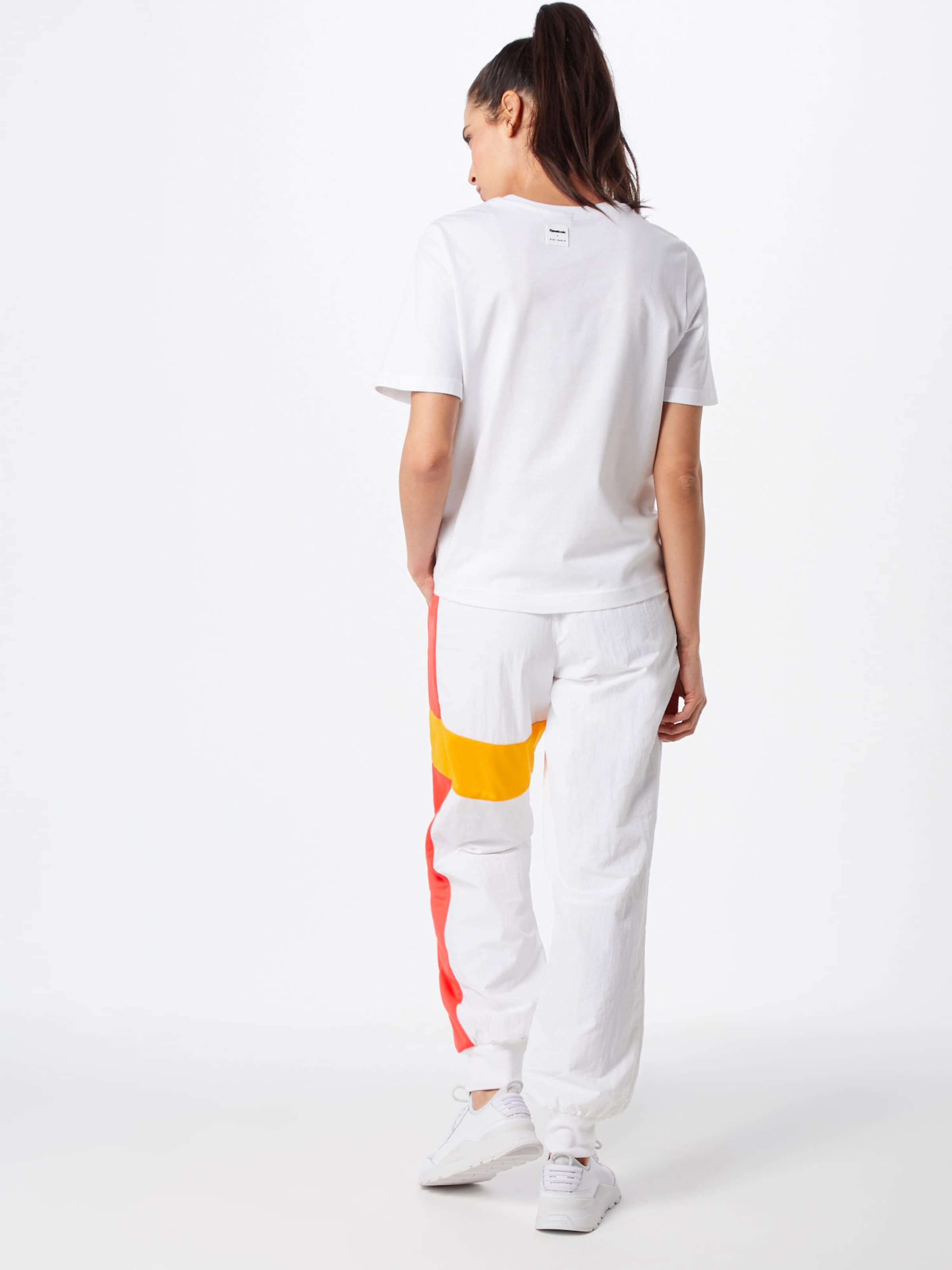 Reebok Pants' Classic Noir En Blanc Track JauneOrange Foncé Pantalon 'gigi uOPXwZikT