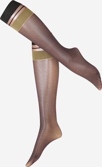 Madingos prisegamos kojinės 'Wild Card KH' iš FALKE , spalva - Auksas / juoda, Prekių apžvalga