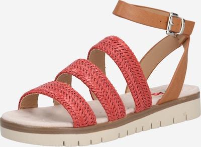 MTNG Sandalen 'DAMAS' in beige / braun / rot, Produktansicht
