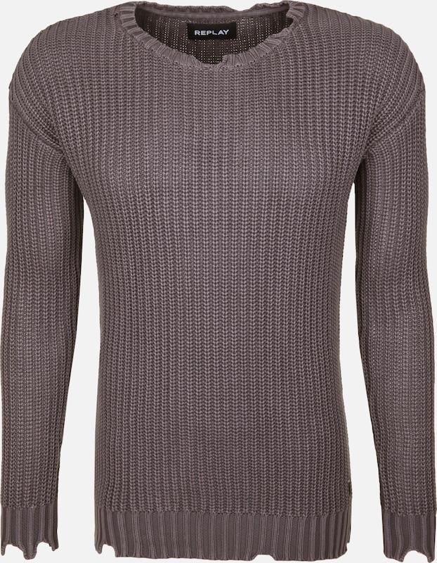 REPLAY Pullover in taupe  Bequem und günstig