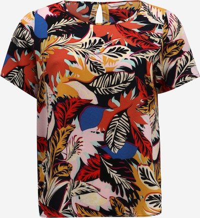Bluză ONLY Carmakoma pe albastru noapte / culori mixte, Vizualizare produs