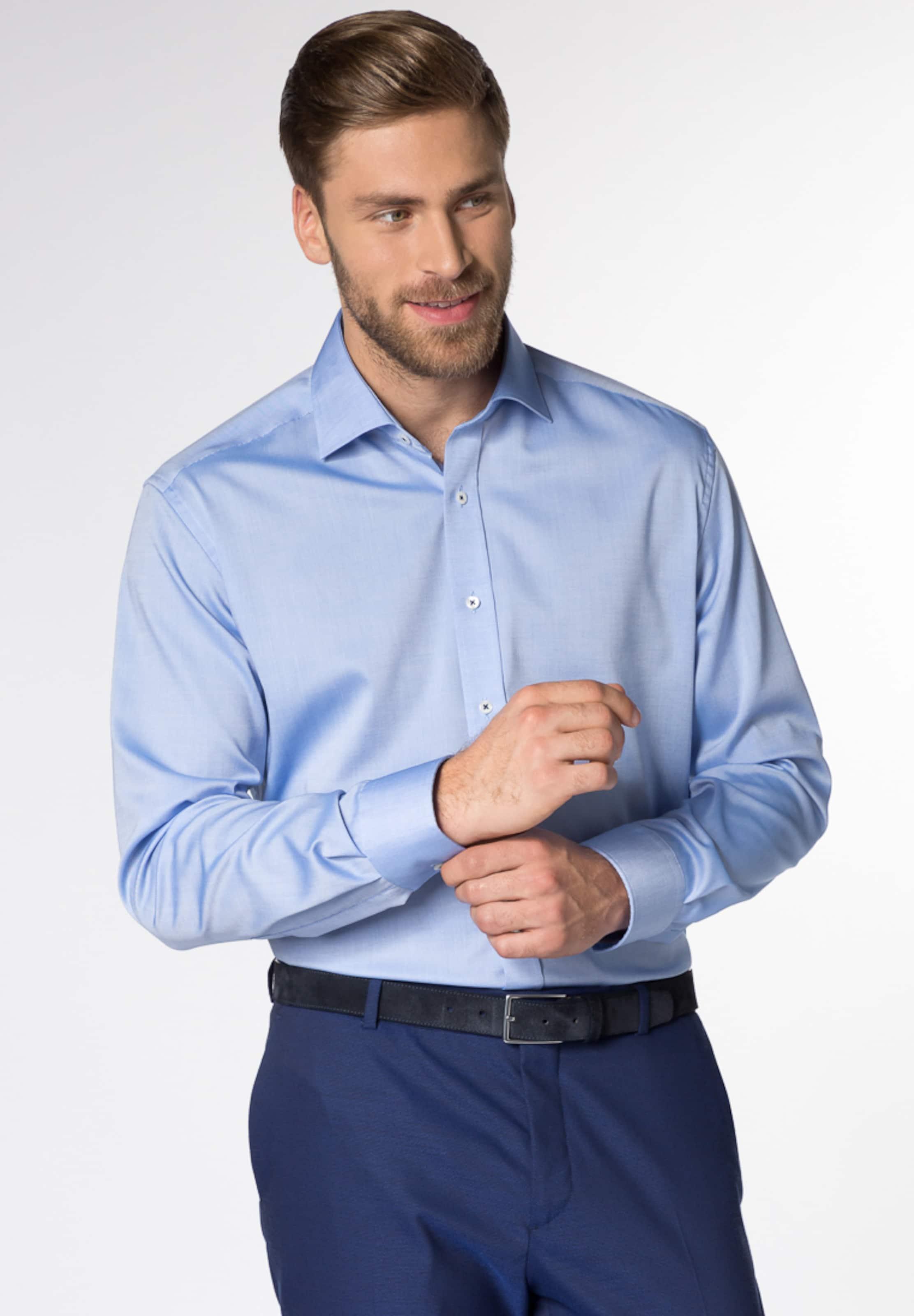 Fit Regular Hemd In Langarm Blau Eterna vmNnyO8wP0