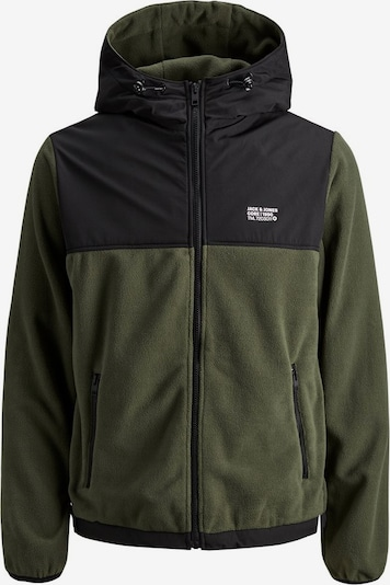 JACK & JONES Fleecejacke in dunkelgrün, Produktansicht