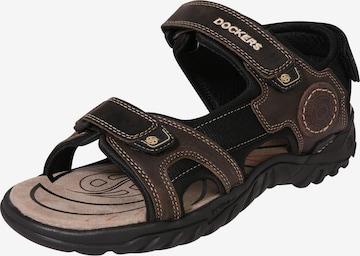 Sandales de randonnée Dockers by Gerli en marron