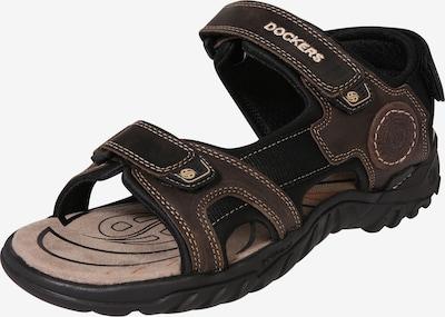 Sandalo Dockers by Gerli di colore marrone scuro, Visualizzazione prodotti