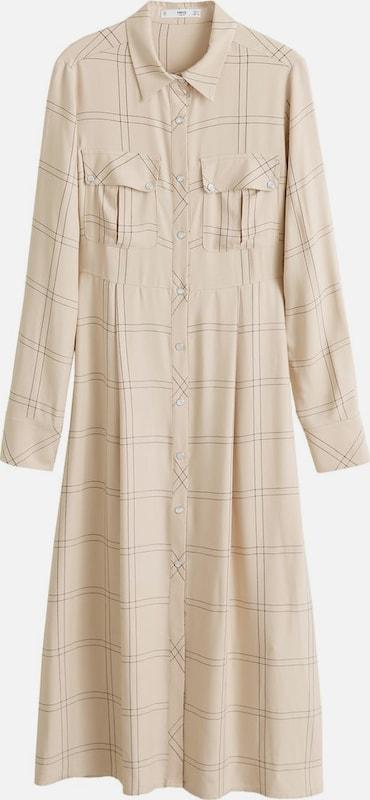 MANGO Kleid 'Nevada' in camel   dunkelgrau  Große Preissenkung