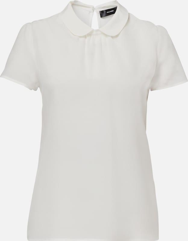 HALLHUBER Bubikragen-Shirt in weiß  Mode neue Kleidung