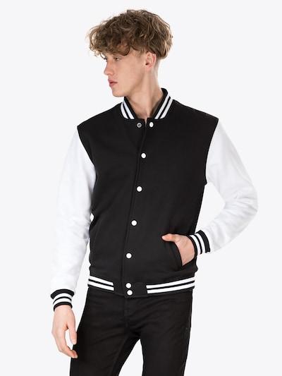 Urban Classics Jacke in schwarz / weiß: Frontalansicht