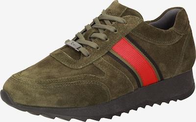 SIOUX Sneaker ' Oseka-700-J ' in khaki / rot, Produktansicht