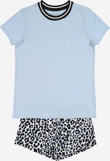 SANETTA Pyjama in hellblau / schwarz / weiß, Produktansicht