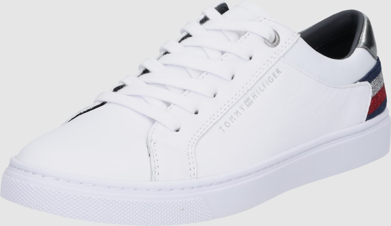 In Hilfiger Rood About Blauw You Tommy Laag Sneakers Zilver Wit nvHFZS