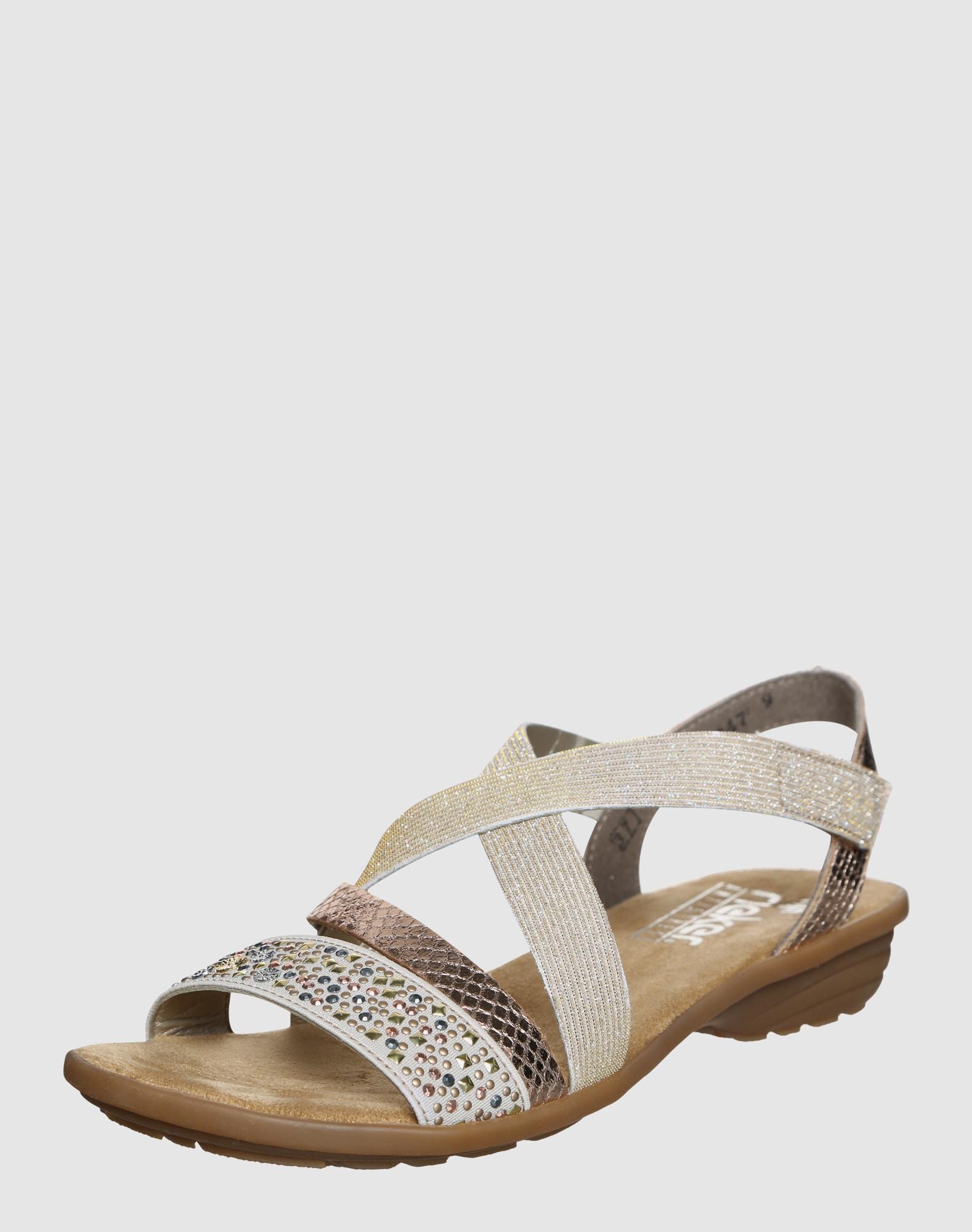 rieker sandalen in gold about you. Black Bedroom Furniture Sets. Home Design Ideas