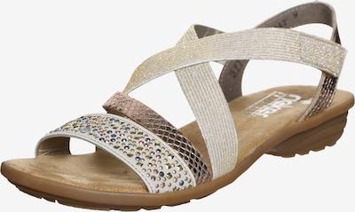 RIEKER Sandalen met riem in de kleur Beige / Goud, Productweergave