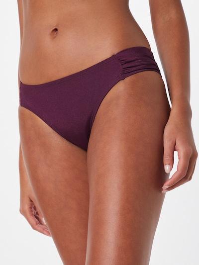 Hunkemöller Bikini hlačke 'Tribal Twist Rio' | rdeče vijolična barva, Prikaz modela