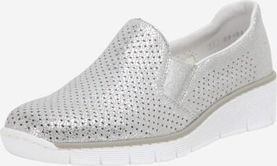 Papuci de casă RIEKER pe argintiu: Privire frontală