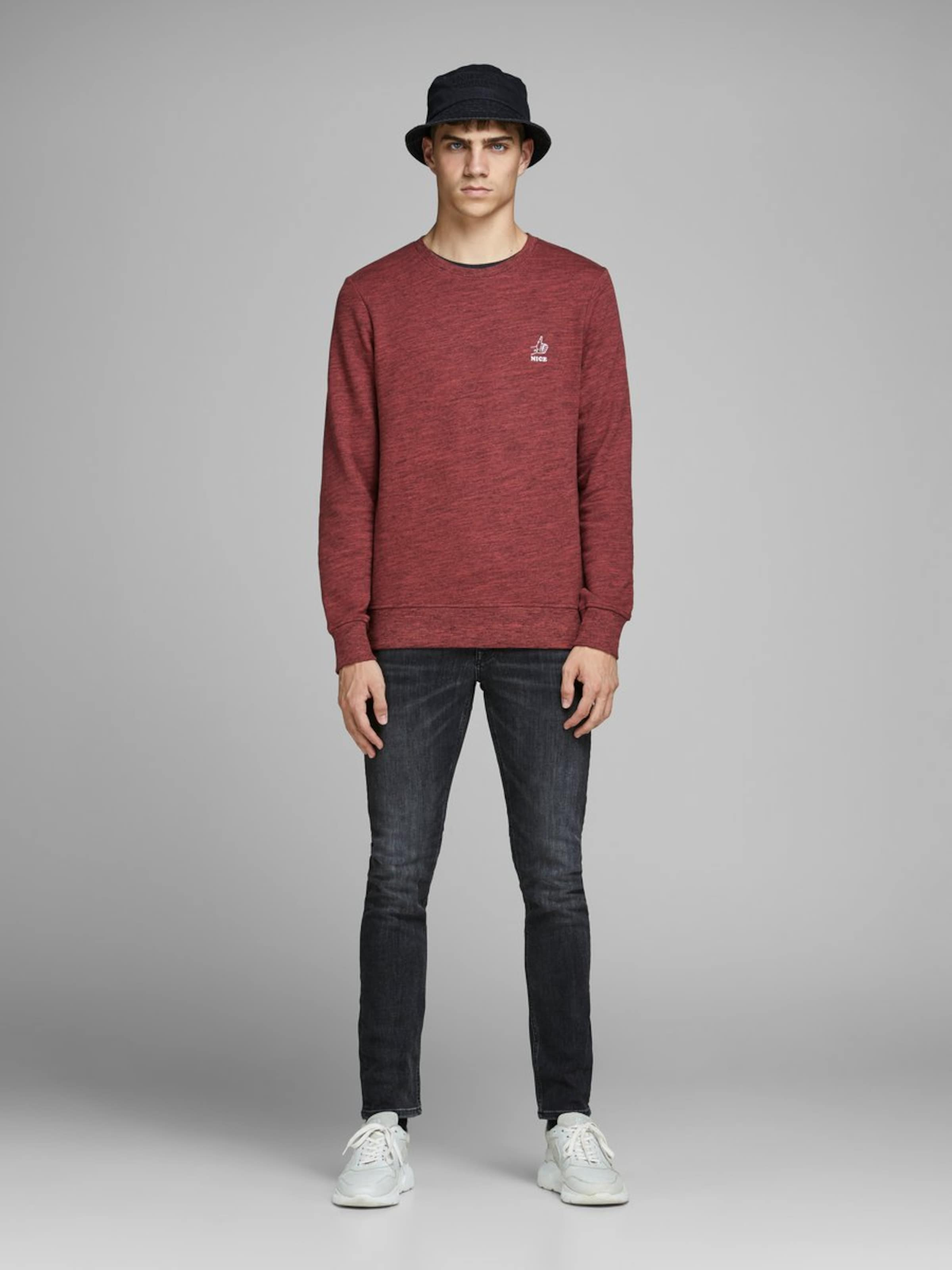 Jackamp; Jones In Jackamp; Jones In Sweatshirt Rotmeliert Sweatshirt EH9W2IDYe