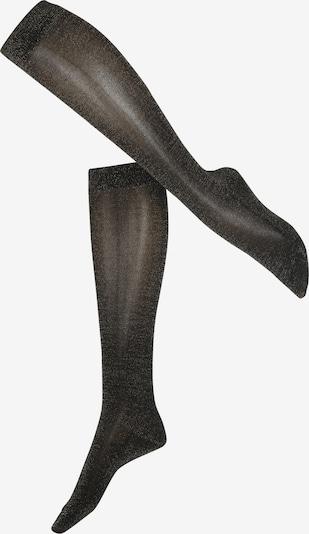 FALKE Kniekousen 'Shiny' in de kleur Zwart, Productweergave