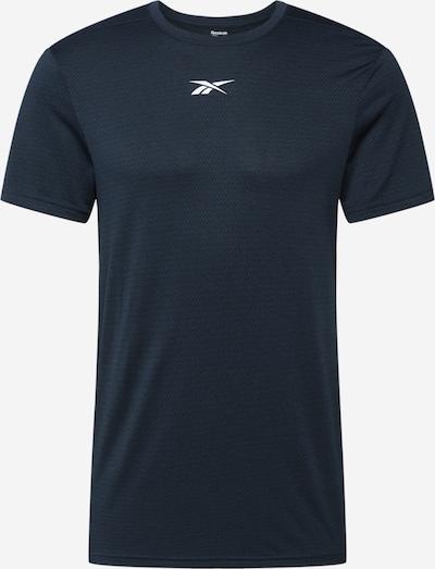 REEBOK Sportshirt in dunkelblau / weiß, Produktansicht