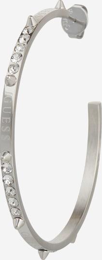 GUESS Kolczyki '50MM HOOP CRYSTALS' w kolorze srebrnym, Podgląd produktu