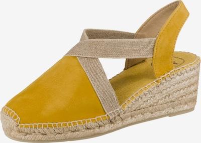 Toni Pons Keilsandaletten in gelb, Produktansicht
