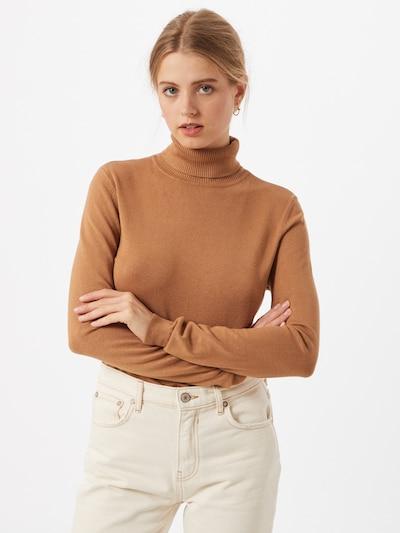 VERO MODA Sweter 'Glory' w kolorze jasnobrązowym, Podgląd na modelu(-ce)