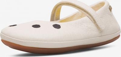 CAMPER Ballerina 'Right' in creme / schwarz, Produktansicht