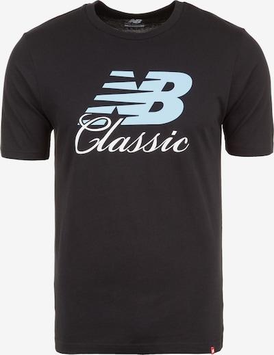 new balance T-Shirt 'Essentials Bridge' in hellblau / schwarz / weiß, Produktansicht