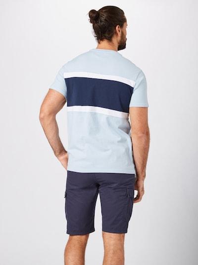 LEVI'S Shirt 'SSCOLORBLOCKTEEJERSE Y' in blau / hellblau: Rückansicht