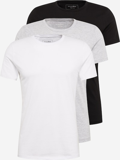 TOM TAILOR DENIM Tričko - šedá / černá / bílá, Produkt