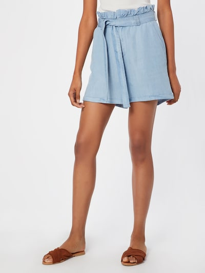 Noisy may Shorts 'NMENDI BELTED SHORTS' in blue denim, Modelansicht
