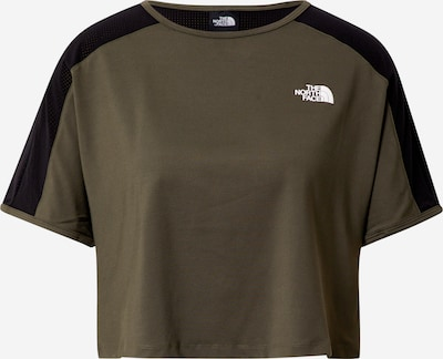 THE NORTH FACE Functioneel shirt 'ACTIVE TRAIL' in de kleur Olijfgroen / Zwart, Productweergave
