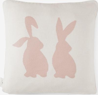 TOM TAILOR Home Kissen mit Hasen-Motiv zum Wenden in pink / weiß, Produktansicht