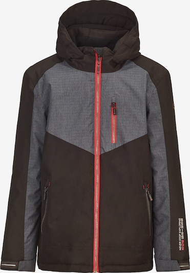 KILLTEC Outdoorjacke 'Radejo' in grau / schwarz: Frontalansicht