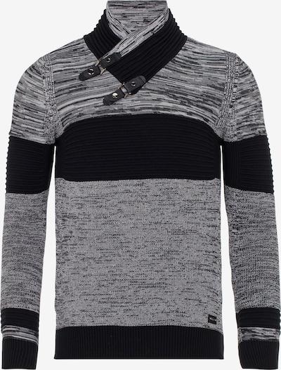 CIPO & BAXX Strickpullover in schwarz / schwarzmeliert, Produktansicht