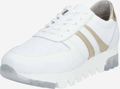 Sneaker low TAMARIS pe auriu / alb: Privire frontală