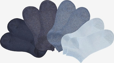 GO IN Füßlinge in navy / taubenblau / hellblau / schwarz, Produktansicht