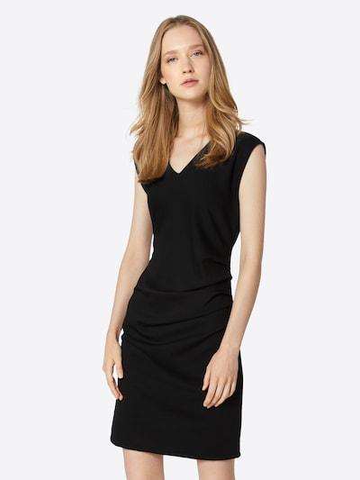 Kaffe Jersey-Kleid 'India' in schwarz: Frontalansicht