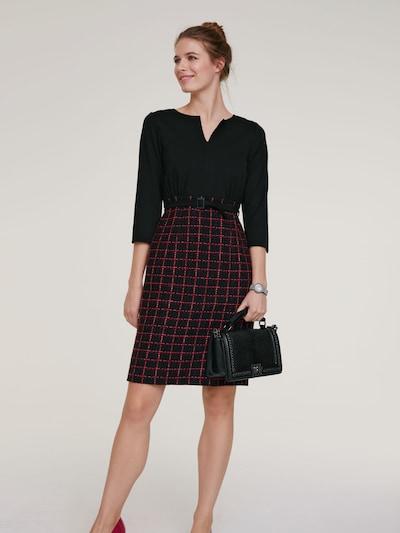 heine Kleid in blutrot / schwarz, Modelansicht