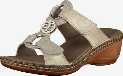 ARA Pantolette in braun / silber, Produktansicht