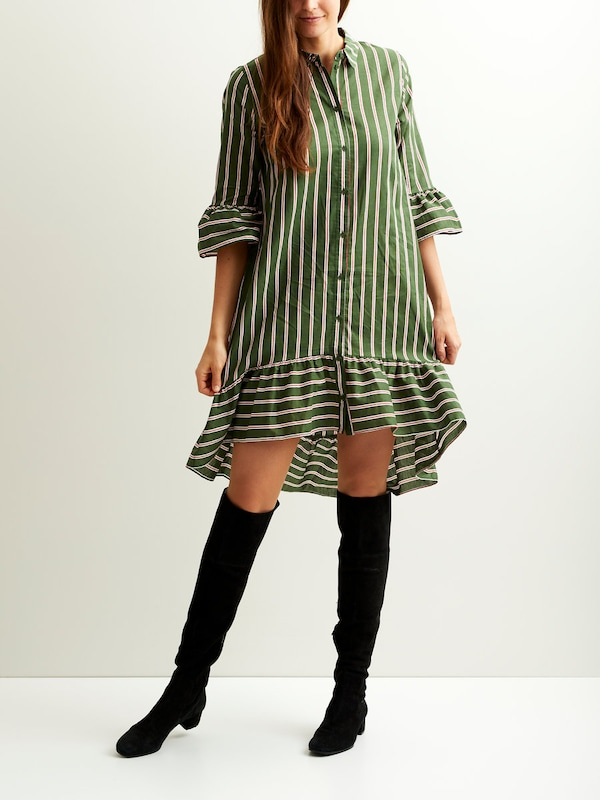 VILA Gestreiftes 3/4-Ärmel Kleid
