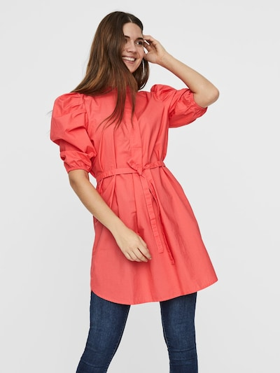 VERO MODA Kleid in orangerot, Modelansicht