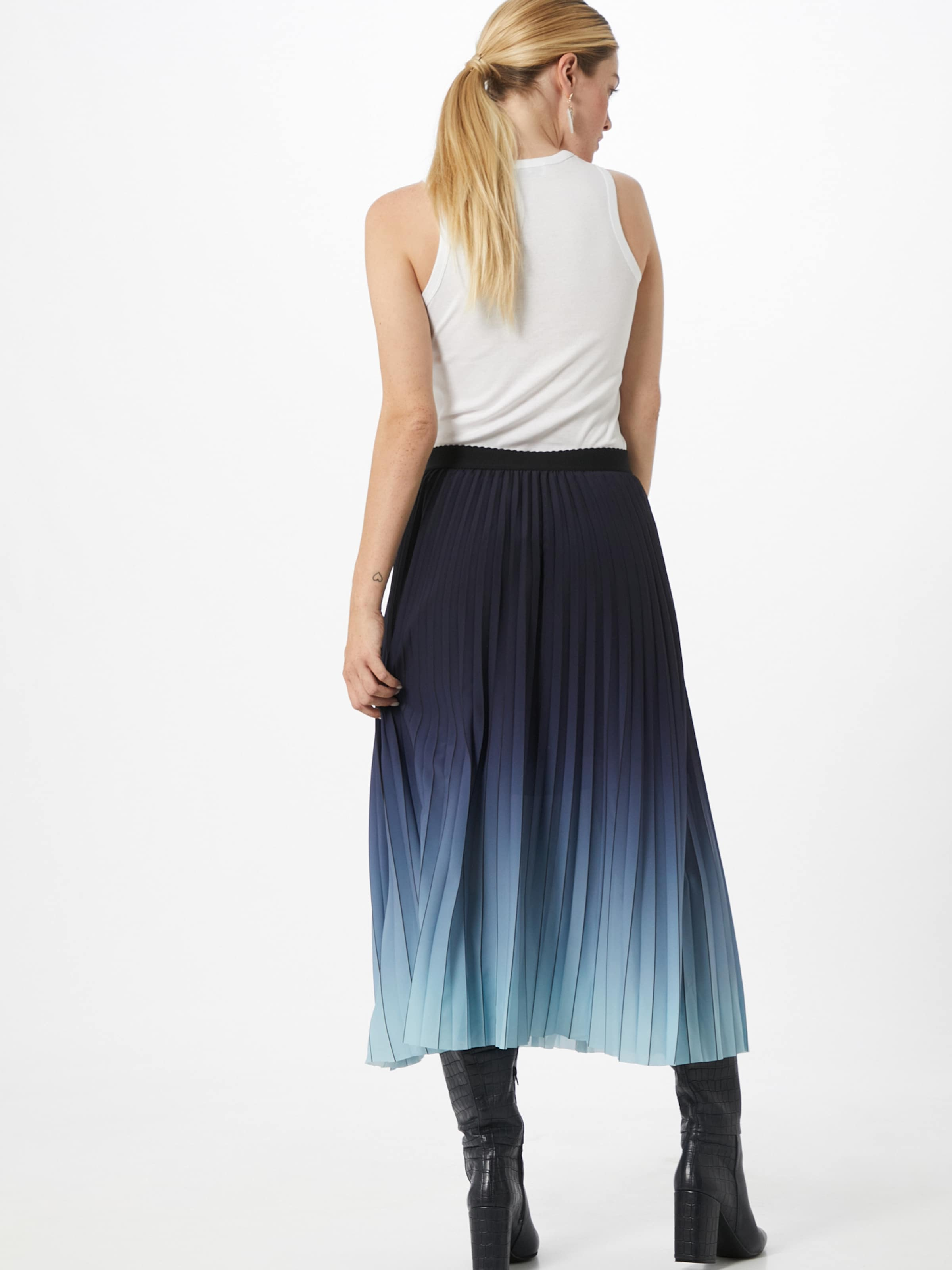 LAUREL Kjol i ljusblå / mörkblå