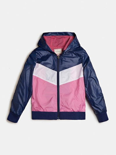 GUESS KIDS Jacke in navy / pink / weiß, Produktansicht