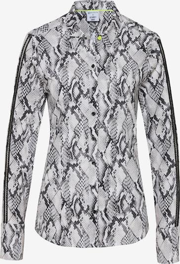 DESOTO Jerseybluse in grau / schwarz, Produktansicht