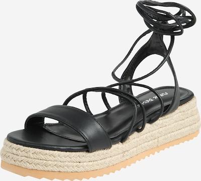 Public Desire Sandale 'NEVE' in schwarz, Produktansicht